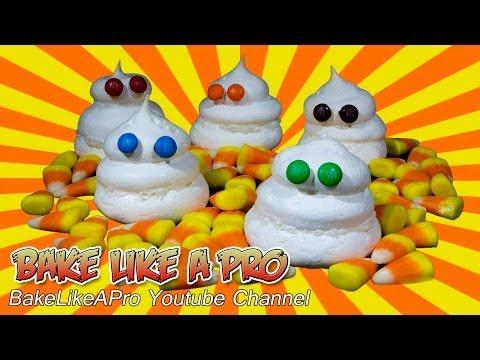 Halloween Meringue Ghosts Recipe !