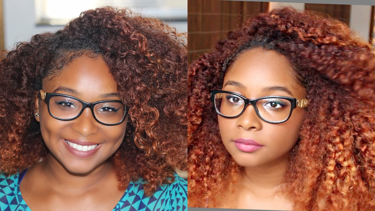 Red Orange Ombre Hair  Mini Life Update  YouTube