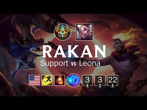 Rakan Support vs Leona - NA Challenger Patch 8.11