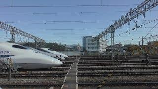 2018年10月21日 博多総合車両所 新幹線ふれあいデー ハローキティー新幹線車内 着発線から検修庫