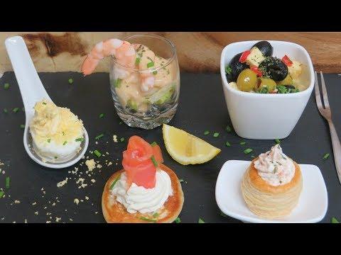 Recettes Des Amuses Bouches Salés Aux Fruits De Mer, Blinis Au Saumon Fumé
