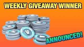 WEEKLY GIVEAWAY WINNER ANNOUNCED! (Fortnite BR Live Stream!)