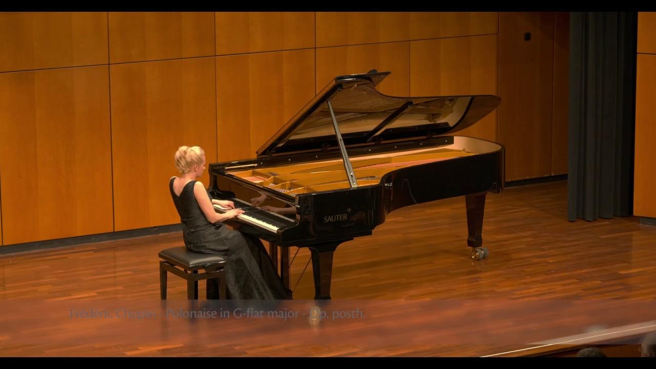 Frédéric Chopin - Polonaise in G-flat major, Op. posth. - by Aleksandra Mikulska