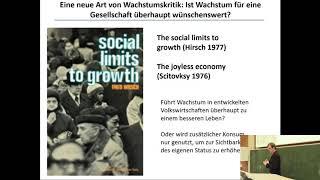 Linus Mattauch: Wirtschaftswachstum und Nachhaltigkeit - (k)ein Widerspruch?