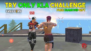 Try Only Kla Challenge in Clash Squad and Free Diamond Gift For Fan - Garena Free Fire