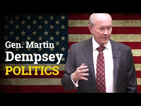 Should Military Officials be involved in Politics? | General Martin Dempsey (2017)