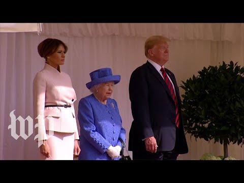President Trump meets Britain's queen