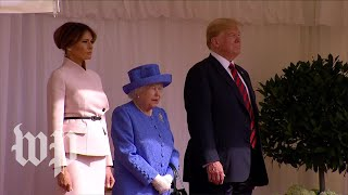 President Trump meets Britain's queen