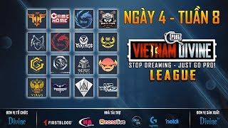 Divine League: Master| Tuần 8| FFQ, REFUND, DIVINE, SGD, GameHome, Vikings White...