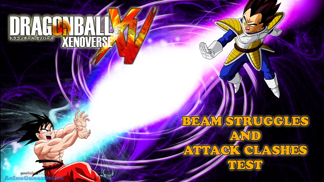 Beam Struggle dragon ball xenoverse beam struggles and attack clashes test