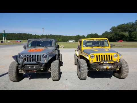 Offroading with Jeep Wrangler JKU's on 37s at Uwharrie