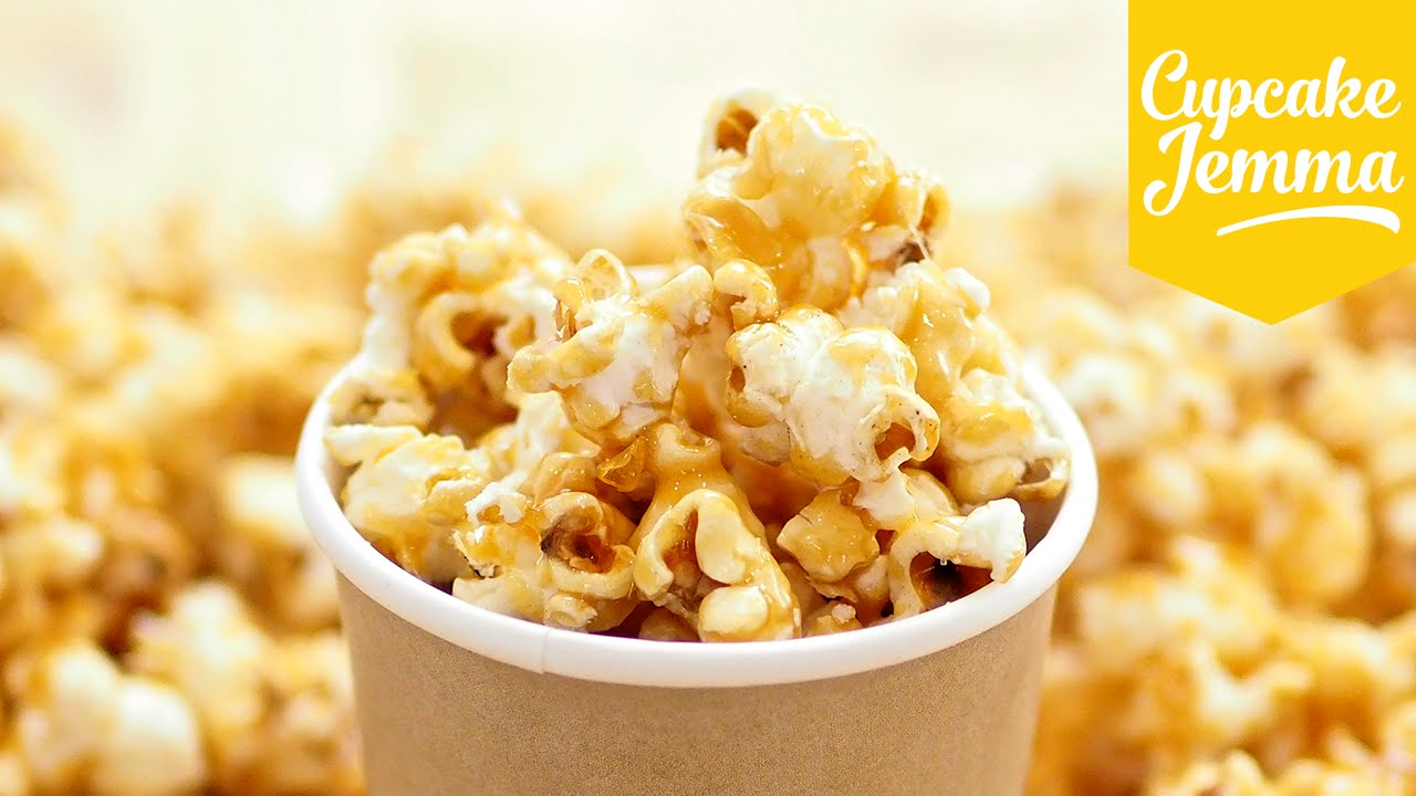 How to Make Perfect Caramel Popcorn | Cupcake Jemma - YouTube