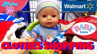 🛍 Walmart Shopping With Baby Born Boy! Skye Helps to Pick Out Baby Clothes for Baby Born BOY!🍼