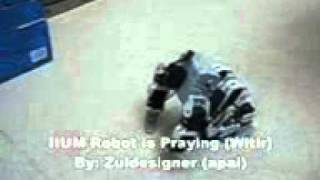 Робот молится.3gp