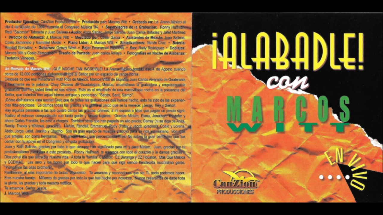 Alabadle Marcos Witt Disco Completo HD - YouTube