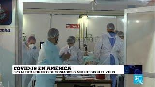 La OPS alerta de los picos de contagios y muertes en Sudamérica