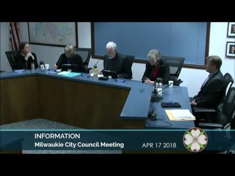 City Council Meeting  April 17, 2018