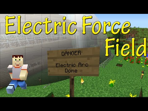 Minecraft | ELECTRIC FORCE FIELD TUTORIAL | Vanilla Command Blocks