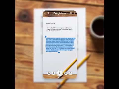 Listen to printed text read out loud with Google Lens