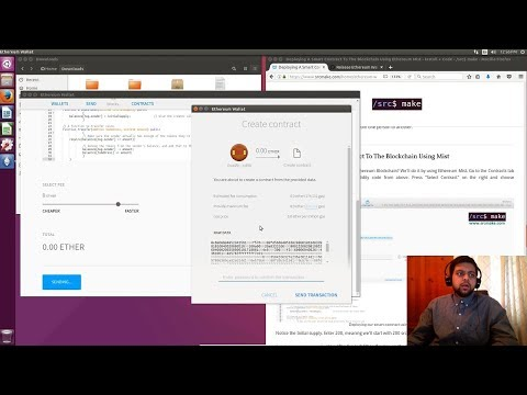 Deploying A Smart Contract To The Ethereum Blockchain w/ Mist
