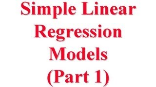 CSE567-13-14A: Simple Linear Regression Models for Computer Systems Performance Evaluation