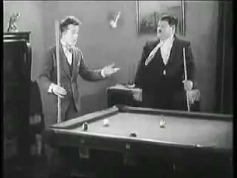 Laurel   Hardy   Playing Pool