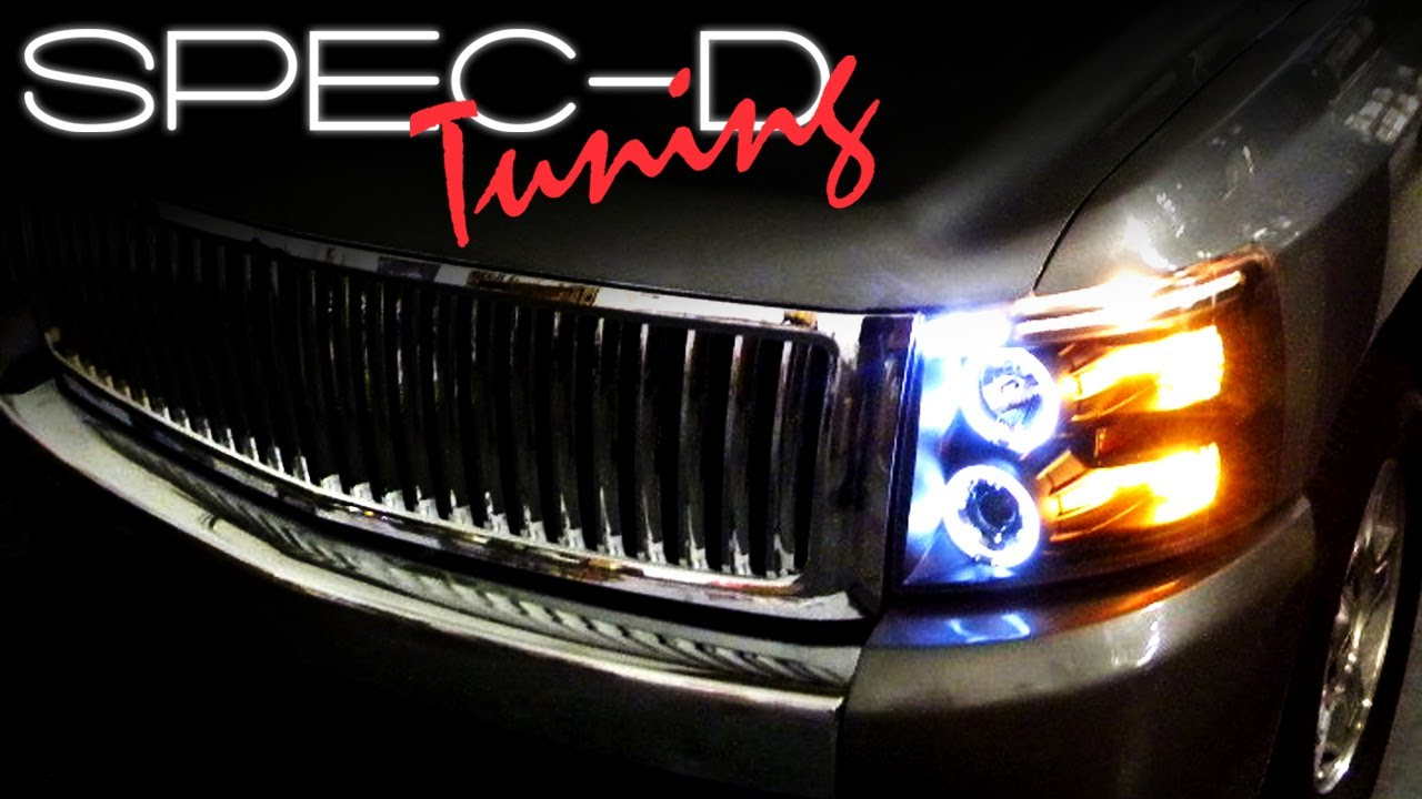 Specdtuning Installation Video2007 And Up Silverado Projector 2007 Chevy Impala Headlight Wiring Diagram Headlights Youtube
