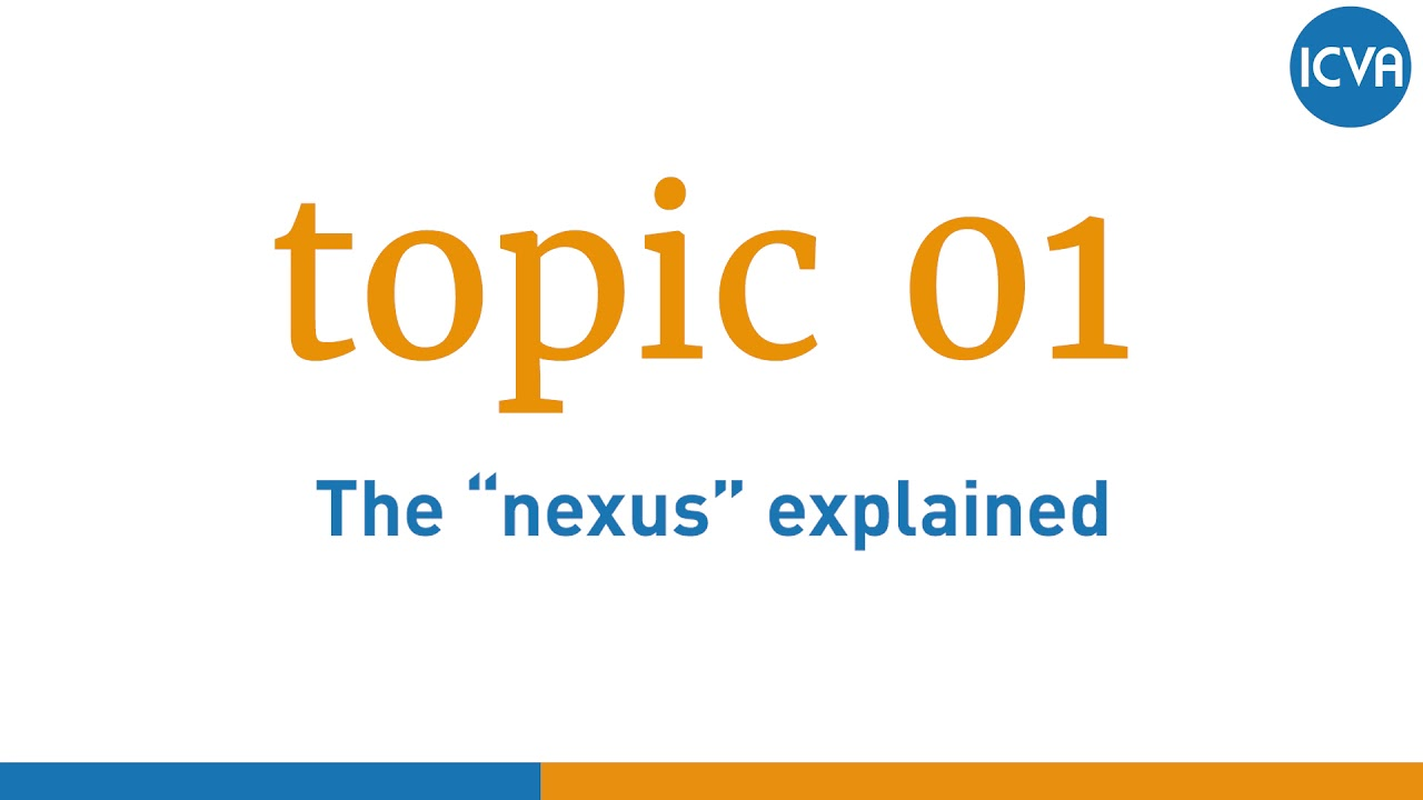 """Topic 1: The """"nexus"""" explained 