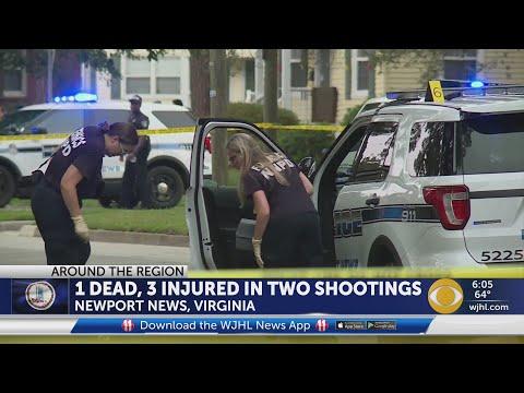 1 Dead, 3 Injured In Two Newport News, VA Shootings