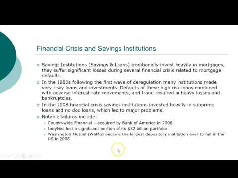 Other Financial Institutions - Savings & Loans, Credit Unions