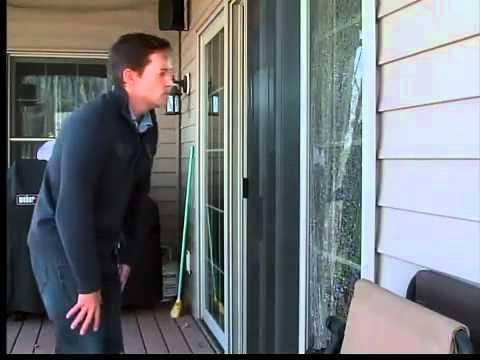 Glass doors suddenly shatter