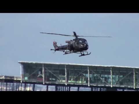 Westland Scout helicopter landing at Southport airshow 19.9.15