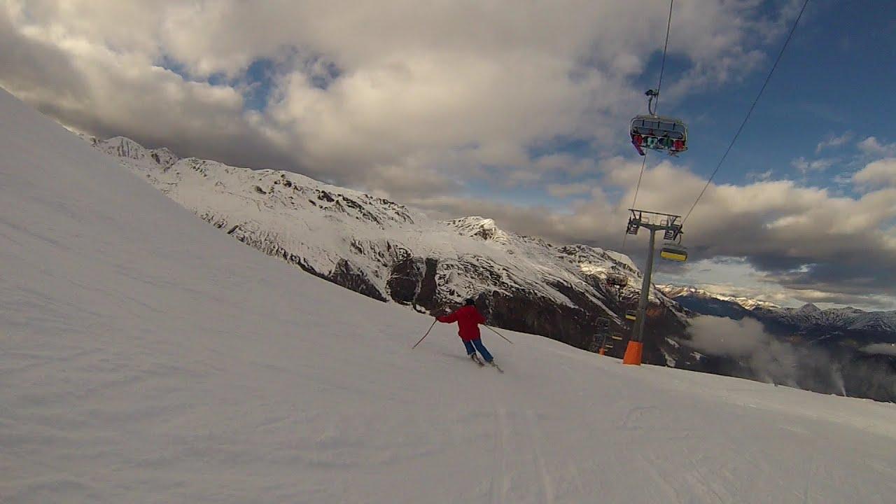 Skifahren und carving in reschen skigebiet schöneben youtube