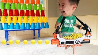 Father and son unbox Biggest Nerf Rival Prometheus Blaster