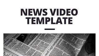 News Video Template (editable)