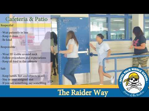 2020 Royal Palm Middle School/ACPA Common Area Expectations Cafeteria