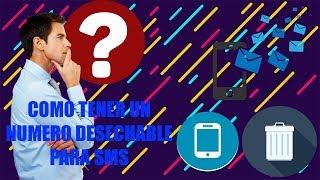 Como tener un telefono desechable para recibir SMS gratis sin programas *Actualizado* (2018)