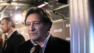 pierre bokman een van de beste acteurs van nederland op de rode loper  bij de film premiere quiz