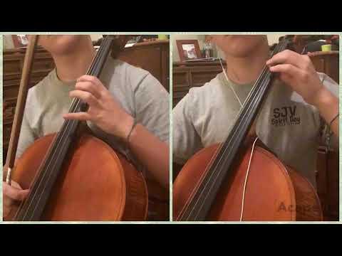White Christmas (cello cover) & 7 months cello progress video