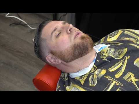 AHOW TO DO NA MID TIGHT FADED WITH THE BEARD AND A line