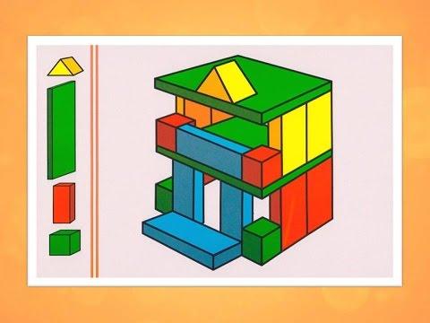 Конструирование из строительного материала в детском саду Старший возраст
