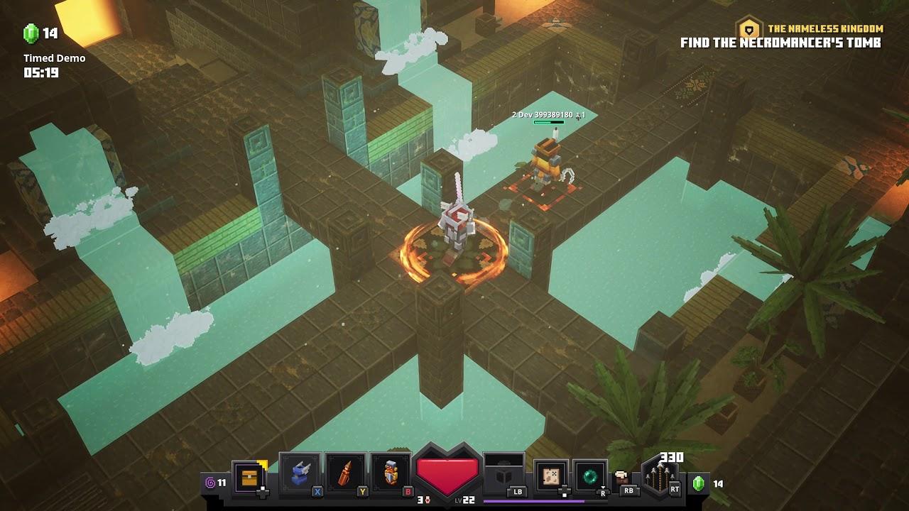 Minecraft Dungeons gameplay footage YouTube