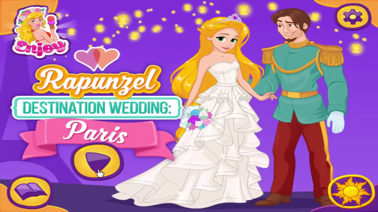 Disney Princess Wedding Day Dress Up Games : Disney princess games rapunzel destination wedding paris