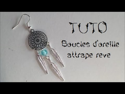 tuto boucles d 39 oreille attrape r ve youtube. Black Bedroom Furniture Sets. Home Design Ideas