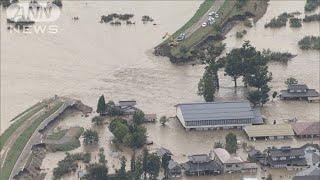 決壊した千曲川 過去最高の水位 上流は最多の雨(19/10/16)