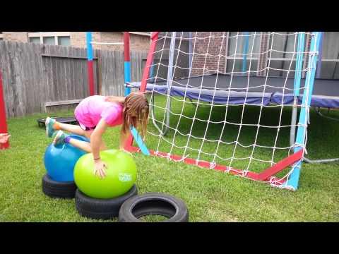 Annelise's American Ninja Warrior course for kids