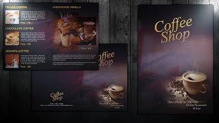 إنشاء سهلة ثنائية أضعاف مقهى الكتيب في فوتوشوب
