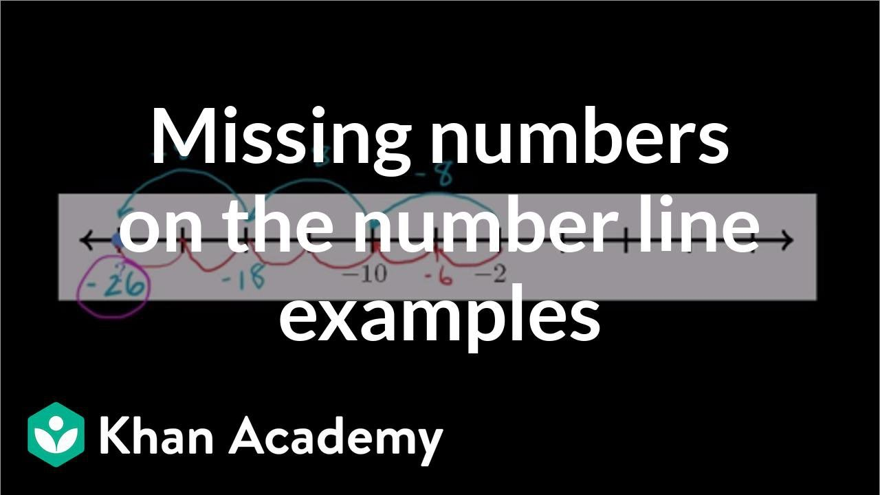medium resolution of Missing numbers on the number line examples (video)   Khan Academy