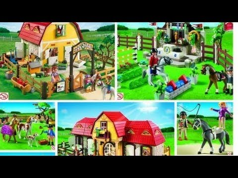 playmobil toys 5221 large horse farm with paddock toy. Black Bedroom Furniture Sets. Home Design Ideas