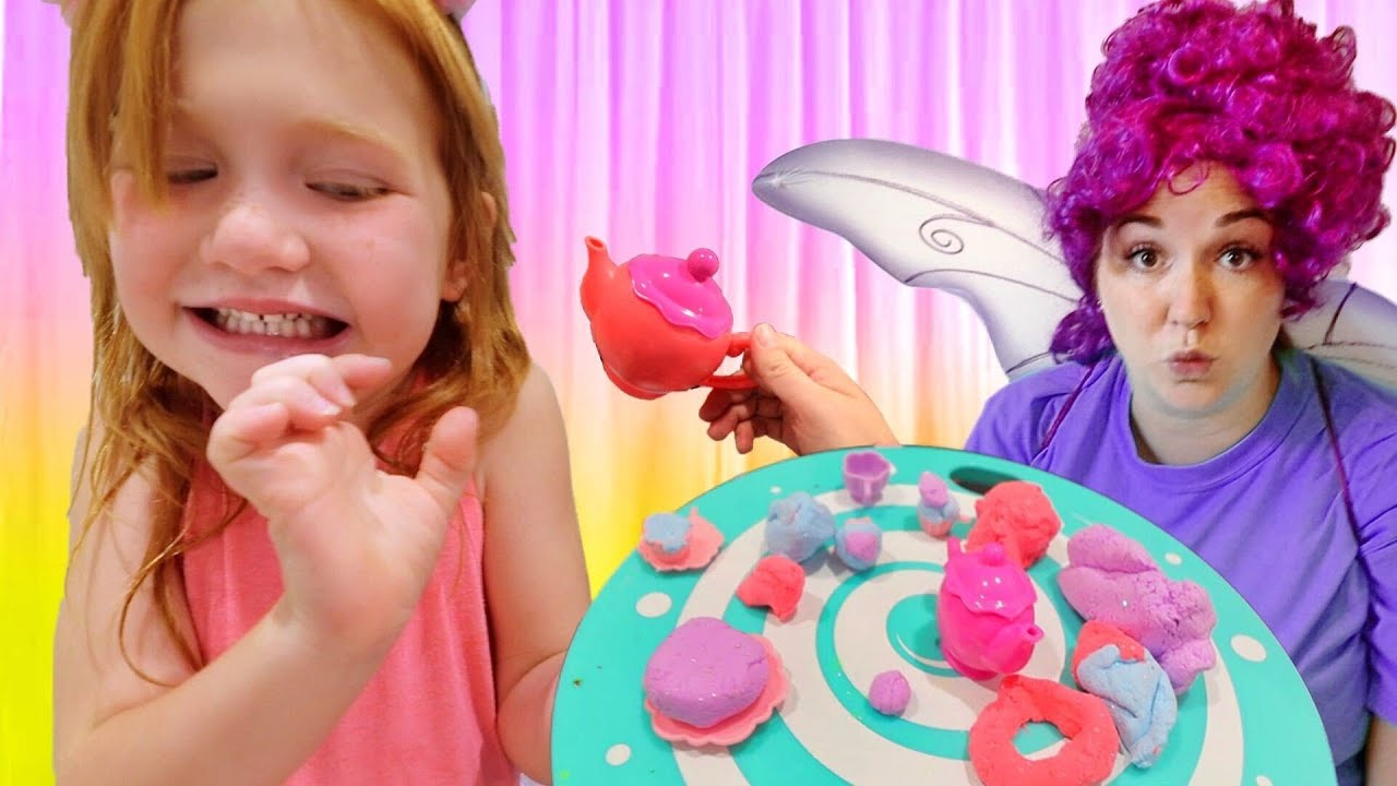 MOM Tea Party MAKEOVER!!  Adley invites you to a UNiCORN and ROCKER pretend play surprise with Dad!
